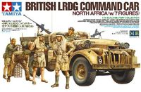 British LRDG Command Car North Africa with 7 Figures