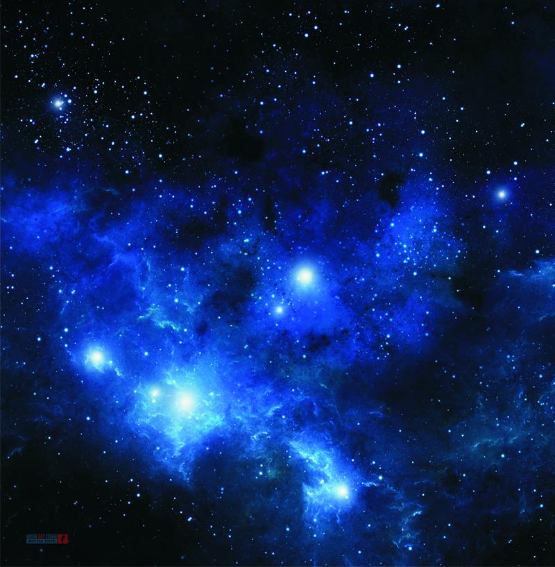 War game mat 36x36inch blue space 4 micro art studio - Blue space hd ...
