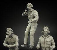 British RAC North Africa & Italy  late tank crew (3 figures) - Image 1