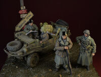 Waffen SS big set, Ardennes 1944, 4 Figures + Schwimmwagen Accessories (Designed for Tamiya Kit) - Image 1