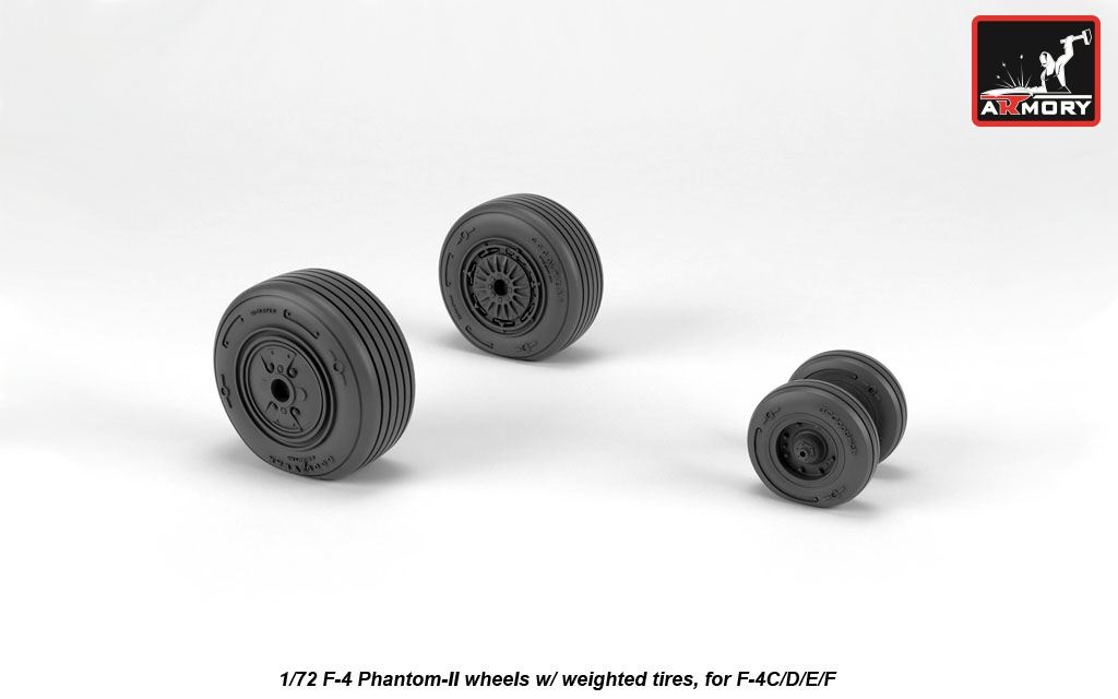 F-4 Phantom-II wheels w/ weighted tires, mid - Image 1