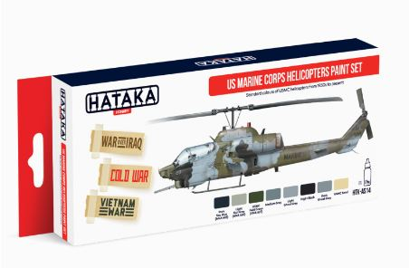 HTK-AS14 US Marine Corps Helicopters Paint Set - Image 1