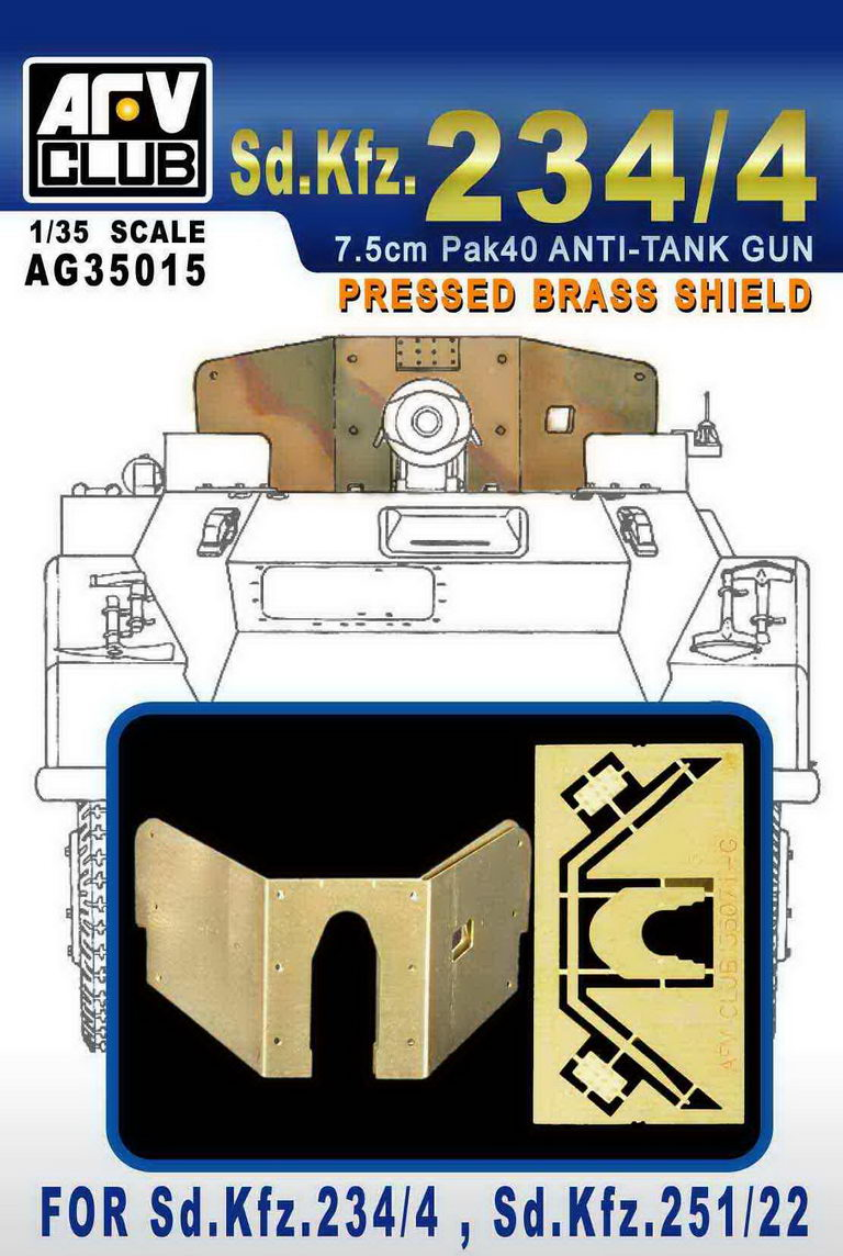 PRESSED BBASS SHIELD FOR Sd.Kfz.234/4, Sd.Kfz.251/22 - Image 1