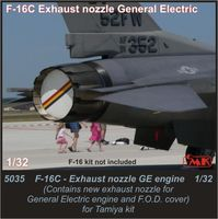 F-16C Exhaust nozzle GE 1/32 for Tamiya / Academy kit - Image 1