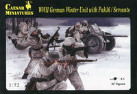 WWII German Winter Unit with Pak 36 / Servants