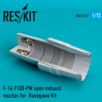F-16 F100-PW open exhaust nozzles for  Hasegawa Kit
