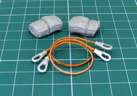 Towing cables for Soviet MBT T-55 (Set designed for MiniArt kit.) - Image 1