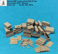 German WWII ammo set for Flak 37 mm (PUR + PE)