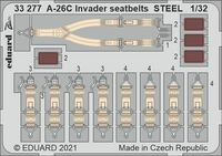 A-26C Invader seatbelts STEEL HOBBY BOSS - Image 1