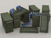 M548 40mm 48 Cart Ammo Can set