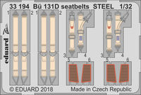Bü 131D seatbelts STEEL  ICM