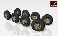 BTR-60 APC wheels w/ weighted tires K-58
