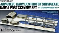 Japanese Navy Destroyer Shimakaze Naval Port Scenery Set - Image 1