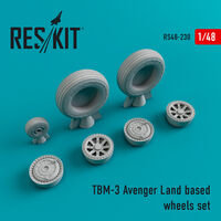 TBM-3 Avenger Land based wheels set - Image 1