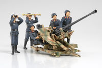 3.7cm FLAK37 Anti-Aircraft Gun - w/Crew Set