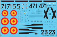 Hispano HA-1112 M1L Spanish Air Force decal sheet - Image 1