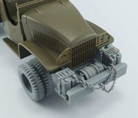 GMC CCKW 2,5t 6x6 (front bumper, aditional canisters, winch and double tires) for Tamiya
