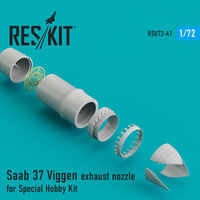 Saab 37 Viggen exhaust nozzle for Special Hobby Kit - Image 1