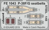 P-38F/G seatbelts STEEL TAMIYA - Image 1