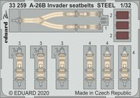 A-26B Invader seatbelts STEEL HOBBY BOSS - Image 1