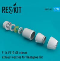 F-16 F110-GE closed exhaust nozzles for  Hasegawa Kit