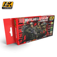 AK 3250 WOODLAND AND FLECKTARN CAMOUFLAGES Set