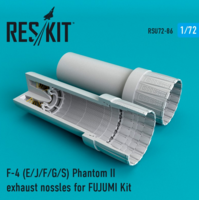 F-4 Phantom II (E/J/F/G/S) exhaust nossles for  FUJIMI  Kit - Image 1