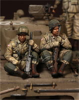 U.S. Army Airborne machine gunner 30 caliber team on Sherman - Image 1