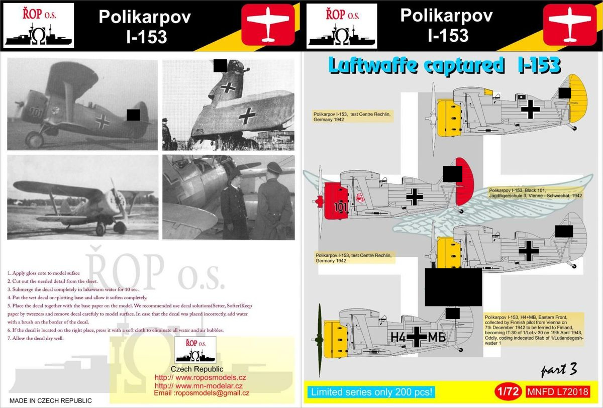 Polikarpov I-153 - Luftwaffe captured I-153 - Image 1