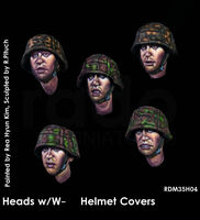 Heads w/W-SS helmet covers - Image 1
