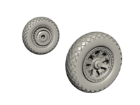 Mainwheels Set SB2C-4 for Academy, Cyber Hobby,  Airfix