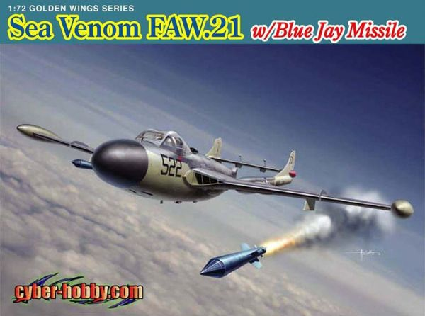 de Havilland Sea Venom FAW.21 with Blue Jay Missile - Image 1