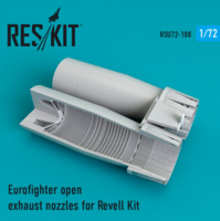 Eurofighter open exhaust nozzles for Revell Kit