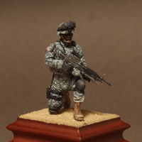 American Machine gunner in patrol group