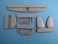 Spitfire Mk. IX control surfaces early for Airfix - Image 1