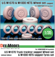 M1070/M1000HETS Sagged wheel set (for Hobbyboss 1/35) Limited - Image 1