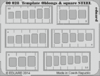 Template oblongs & square STEEL tool - Image 1