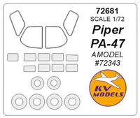 Piper Pa-47 (AMODEL) + wheels masks - Image 1