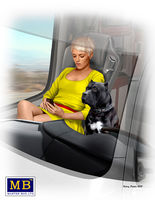 Truckers series. Joni (Lookout) Johnson & her dog Maxx /