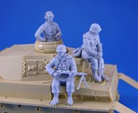 WWII German Tank Crew and Riders set 3 Figures