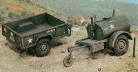 American 250 galons Tank Trailer and M101 Cargo Trailer