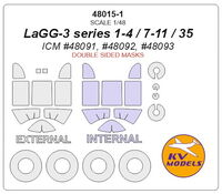 LAGG-3 series 1-4 / 7-11 / 35 (ICM) - double sided + wheels masks - Image 1