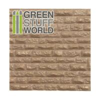 ABS Plasticard - Rough Rock Wall Textured Sheet - A4 size